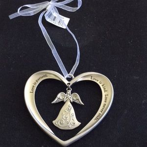 NWT Love is Patient Heart with Angel